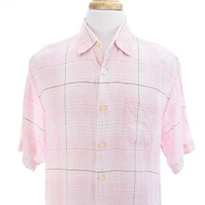 Tommy Bahama Linen Camp Shirt Sz Large
